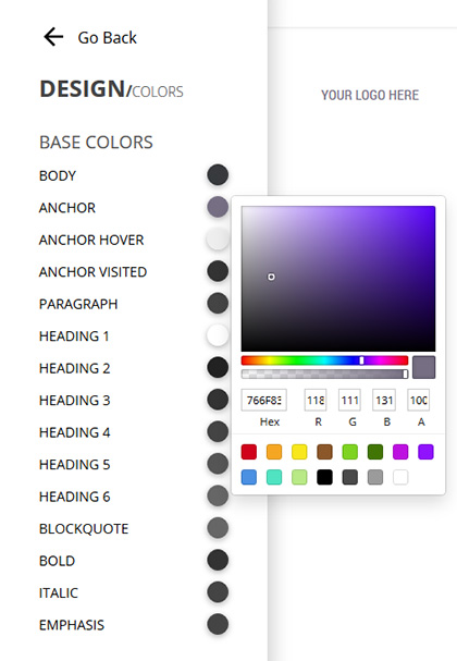 BUILify colors editor